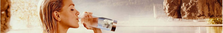 Bouteille ou gourde VIA de VitaJuwel avec minéraux pour la dynamisation de l'eau